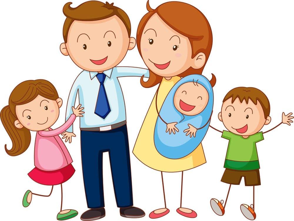 Картинки дети и родители для детей